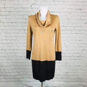 LOFT Dresses - Ann Taylor Petite Cowl-neck Sweater Dress Sz MP